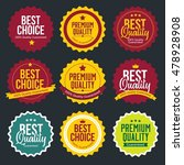 premium and high quality labels ... | Shutterstock .eps vector #478928908