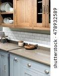 wooden bowl in bespoke modern... | Shutterstock . vector #478932589