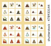 assembly flat icons mountains... | Shutterstock .eps vector #478933144