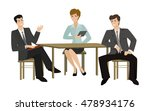 two young men and woman talking ...   Shutterstock .eps vector #478934176