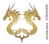 Vector Dragon Snake Chinese In...