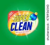 vector template for laundry... | Shutterstock .eps vector #478936540