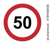 speed limit sign number fifty... | Shutterstock .eps vector #478938508