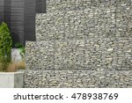 retaining gabion filled with... | Shutterstock . vector #478938769