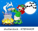 vector illustration of a witch... | Shutterstock .eps vector #478944439