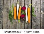 sliced raw vegetables  carrot ... | Shutterstock . vector #478944586