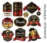 attractive drinks labels set ... | Shutterstock .eps vector #478946764