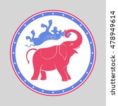 the comic republican elephant... | Shutterstock .eps vector #478949614