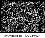 vector illustration of happy... | Shutterstock .eps vector #478950424