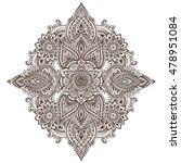 vector pattern of henna floral...   Shutterstock .eps vector #478951084
