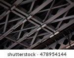 hydraulics bridge. black and...   Shutterstock . vector #478954144