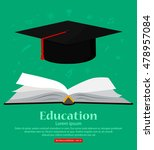 education. background with open ... | Shutterstock .eps vector #478957084