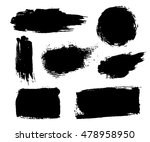 grunge brushes texture white... | Shutterstock .eps vector #478958950