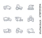 agricultural machinery line... | Shutterstock .eps vector #478959394