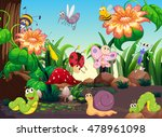 many insects in the garden... | Shutterstock .eps vector #478961098