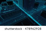 abstract 3d city rendering with ... | Shutterstock . vector #478962928