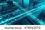 abstract 3d city rendering with ... | Shutterstock . vector #478962970