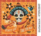 day of the dead poster  mexican ... | Shutterstock .eps vector #478963849