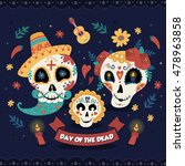 day of the dead poster  mexican ... | Shutterstock .eps vector #478963858