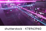 abstract 3d city rendering with ... | Shutterstock . vector #478963960