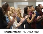 adult students applauding at an ... | Shutterstock . vector #478965700