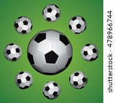 background with football balls... | Shutterstock .eps vector #478966744