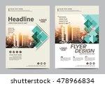 green brochure layout design... | Shutterstock .eps vector #478966834