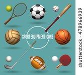 sport equipment icons. sports... | Shutterstock .eps vector #478966939