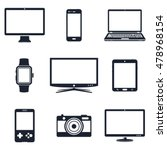 set of electronic device icons | Shutterstock .eps vector #478968154
