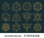 a set of abstract symbol in...   Shutterstock .eps vector #478968388