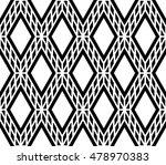 monochrome lattice rhombus...   Shutterstock .eps vector #478970383
