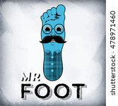character a foot with mustaches.... | Shutterstock .eps vector #478971460
