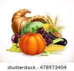 Horn Of Plenty. Harvest Fruits...