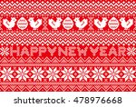 new year card with nordic... | Shutterstock .eps vector #478976668