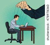 puppeteer controlling business... | Shutterstock .eps vector #478978360