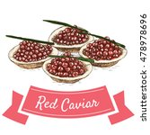 red caviar colorful... | Shutterstock .eps vector #478978696