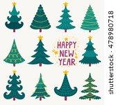 vector set of cute hand drawn... | Shutterstock .eps vector #478980718