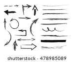 set of hand drawn  arrows and... | Shutterstock .eps vector #478985089