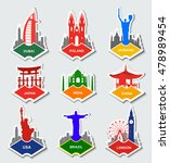 a set of stickers with the... | Shutterstock .eps vector #478989454