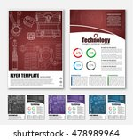 template brochures  flyers  in... | Shutterstock .eps vector #478989964