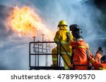 firefighters training  the... | Shutterstock . vector #478990570