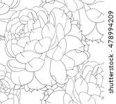 roses lives flowers seamless... | Shutterstock . vector #478994209