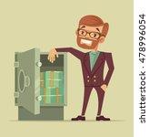 businessman character standing... | Shutterstock .eps vector #478996054