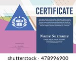 certificate of achievement... | Shutterstock .eps vector #478996900