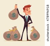 rich businessman character hold ... | Shutterstock .eps vector #478996918