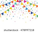 holiday background with bunting ... | Shutterstock .eps vector #478997218
