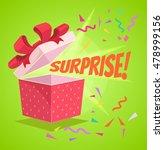 open surprise text gift box.... | Shutterstock .eps vector #478999156