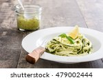 Zucchini Noodles With Pesto...