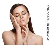 beauty woman face portrait.... | Shutterstock . vector #479007838