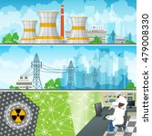 nuclear power plant horizontal...   Shutterstock .eps vector #479008330
